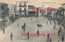 30 // GALLARGUES   Courses De Taureaux Sur La Place De La Mairie  ** - Gallargues-le-Montueux