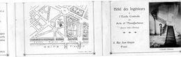Plaquette 3 Volets. Hotel Des Ingénieurs. école Centrale Des Arts Et Manufactures, 8 Rue Jean Gougeon, Paris. - Bildung, Schulen & Universitäten