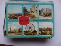 Duitsland Deutschland  Berlijn Berlin Hauptstadt Der DDR In Blau - Duitsland