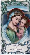 Mère Du Bon Conseil -Katholoieke Internationale Bond Beschermingswerken Meisjes Antwerpen Texte Au Verso-image Religieux - Overlijden