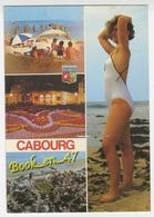 {73187} 14 Calvados Cabourg , Multivues ; La Plage , Le Casino Et Les Jardins , Baigneuse , Animée - Cabourg