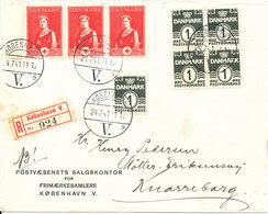 Denmark Registered Cover Copenhagen 4-7-1941 Good Franked - 1913-47 (Christian X)