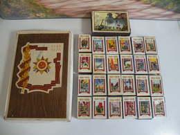 Boites Allumettes URSS 1945-1975(RUSSIE) 1Grande Boite Et 24 Petite Boites Neuves Jamais Servie Plus De 43 Ans - Matchbox Labels