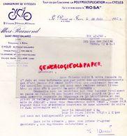 42- SAINT PRIEST EN JAREZ- RARE LETTRE ALBERT RAIMOND- CYCLES ROSA- VELO- CYCLISME-A PAPIN TOURS- 1945 - Transport