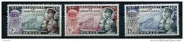 """Monaco YT 394 Et 396  """" Découverte De L'anaphylaxie """" 1953 Neuf** - Unused Stamps"""