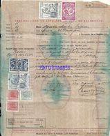 90334 SPAIN ARGENTINA CERTIFICACION DE NACIMIENTO YEAR 1947 MULTI STAMPS NO POSTCARD - Stamps