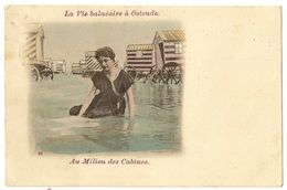 31 - La Vie Balnéaire à Ostende - Au Milieu Des Cabines - Oostende