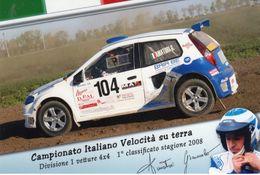 Campionato Italiano Velocità Su Terra - Divisione 1 Vetture 4x4 - 1° Classificato Stagione 2008 - - Autres
