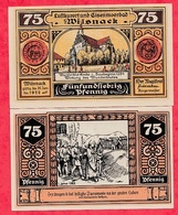 Allemagne 1 Notgeld 75 Pfenning  Stadt Wilsnack UNC Lot N °154 - [ 3] 1918-1933 : Weimar Republic
