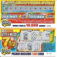 Gratta E Vinci - 2 Biglietti MINI CRUCIVERBA D'ORO E NUOVO SETTE E MEZZO - Billetes De Lotería