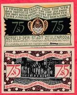 Allemagne 1 Notgeld 75 Pfenning  Stadt Zeulenroda UNC Lot N °157 - 1918-1933: Weimarer Republik