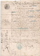 82X   Extrait Registre Des Naissances 1881 Commune Du Pouget (34) Gignac Soubeyran Cachet - Manuscripts