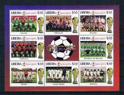 Liberia 2001 Fußball Kleinbogen ** - Liberia