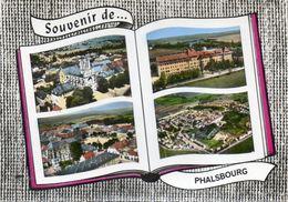 CPSM Dentelée - PHALSBOURG (57) - Carte Multi-vues Au Livre Ouvert De Vues Aériennes De 1960 - Phalsbourg