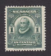 Nicaragua, Scott #422, Mint Hinged, Cordoba, Issued 1924 - Nicaragua