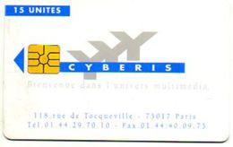 CARTE  D'ACCES INTERNET  CYBERIS  *15 Unités  VERSO Roland Garros  IBM - Autres