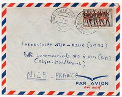 Congo YT N°164 Seul Sur Lettre Brazaville Poto Pour La France 1966 (Nice Azur Parfumerie Laboratoires) Ballet Diaboua - Congo - Brazzaville