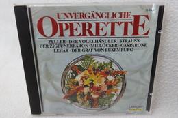 """CD """"Unvergängliche Operette"""" Div. Titel - Opera"""