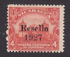 Nicaragua, Scott #431, Mint Hinged, Leon Cathedral Overprinted, Issued 1927 - Nicaragua