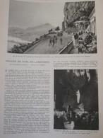 1933  Dessin De J SIMONT     Veillée De Noel En LANGUEDOC Grottes Des Demoiselles Ou Fées  Saint-Bauzille-de-Putois - Vieux Papiers