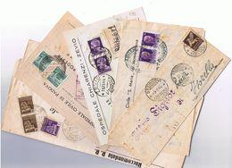 Lotto Di 5 Oggetti Postali Viaggiati In Repubblica Sociale Come Da Scansione - 4. 1944-45 Repubblica Sociale