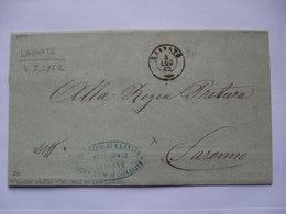 ITALY - 1862 Stampless Entire - Lainate To Saronno With Additional Municipio Lajnate Cachet - ...-1850 Préphilatélie