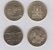 Lot De 4 Medailles 2015 ET 2016-2017 - Monnaie De Paris