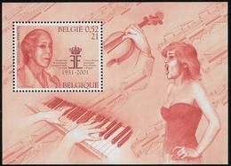 Belgium SG MS3624 2001 Music And Literature Miniature Sheet Unmounted Mint [36/30407/6D] - Blocks & Sheetlets 1962-....