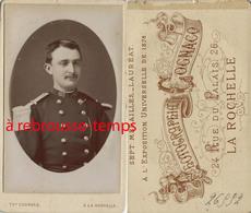CDV Soldat Du 123e R-épaulettes Claires-contre-épaulette Photo >Cognacq-- La Rochelle Marine? - Sports