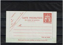 """CTN27 - CARTE PNEUMATIQUE CHAPLAIN 1f60 STORCH N° V12 """"DIMENSIONS 155x125"""" - Entiers Postaux"""