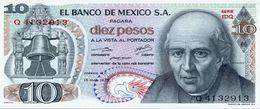 Mexico 10 Pesos 15-5-1975 Pick 63.h.3 UNC - México