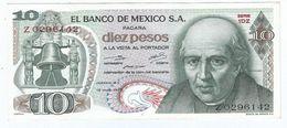 Mexico 10 Pesos 15-5-1975 Pick 63.h.4 UNC - México