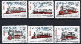 ROMANIA 2002 Steam Locomotives MNH / **.  Michel 5681-86 - 1948-.... Republics