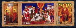 ROMANIA 2005 Christmas: Ikons MNH / **.  Michel 6013-15 - 1948-.... Republics