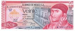 México 20 Pesos 18-7-1973 Pick 64.b.8 UNC - México
