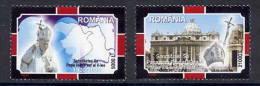 ROMANIA 2005 Death Of Pope John Paul II MNH / **.  Michel 5926-27 - 1948-.... Republics