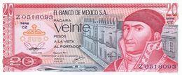 México 20 Pesos 8-7-1977 Pick 64.d.2 UNC - México