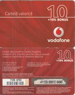 ROMANIA  - Vodafone Prepaid Card $10(medium Barcode), Used - Romania