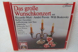"CD ""Das Grosse Wunschkonzert"" Riccardo Muti, André Previn, Willi Boskovsky - Klassik"