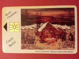 Merry Christmas Ivan Lackovic Carte Jaunie - Croatie