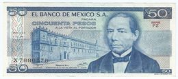México 50 Pesos 5-7-1978 Pick 67.a UNC - México