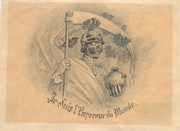 DESSIN ORIGINAL  Par HERMAN VOGEL (1856-1918) - DESSIN SATIRIQUE ANTI GUILLAUME ( 14 X 19 Cm) - Disegni