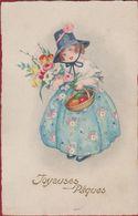 CPA Easter œuf De Pâques Joyeues Pasen Easter Egg Paasei - Bestemmeling: Villa Godelieve Wenduyne Wenduine - Pasen