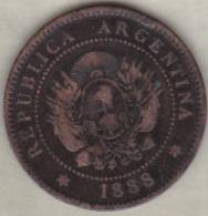 ARGENTINE / TUCUMAN . UN CENTAVO 1888 . BRONZE - Argentina