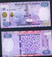 RWANDA  -  2014  2000 Francs UNC Banknote - Rwanda