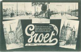 Goes 1905; Groet Uit Goes, Meerluik - Gelopen. (P.F. V.d. Ende - Rotterdam) - Goes