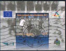 2011 -  SAN MARINO - ANNO EUROPEO DEL VOLONTARIATO. USATO - Usati