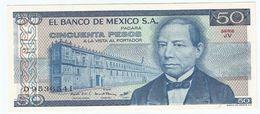 México 50 Pesos 27-1-1981 Pick 73 Serie JU-JV UNC - México