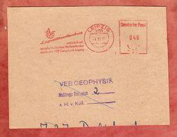Briefstueck, Absenderfreistempel, VEB Geophysik, 40 Pfg, Leipzig 1975 (47717) - Machine Stamps (ATM)
