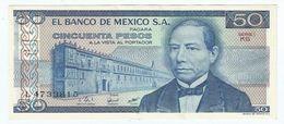 México 50 Pesos 27-1-1981 Pick 73 Serie KG-KH UNC - México